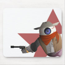 Eyeball Cowboy Mouse Pad