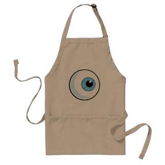 Eyeball design adult apron