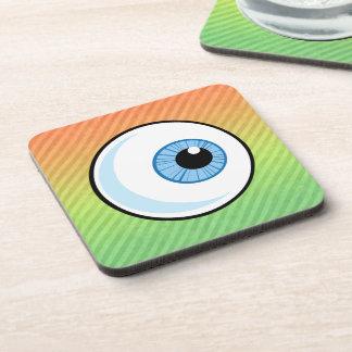 Eyeball design drink coasters