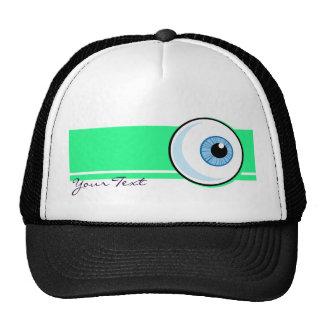 Eyeball design mesh hat