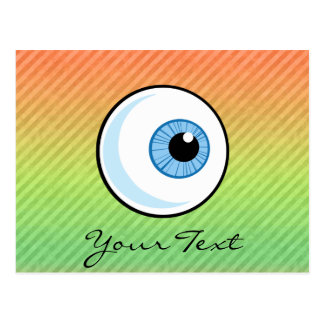 Eyeball design postcard