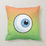 Eyeball design throw pillows
