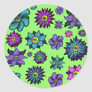 Eyeball Flowers Stickers