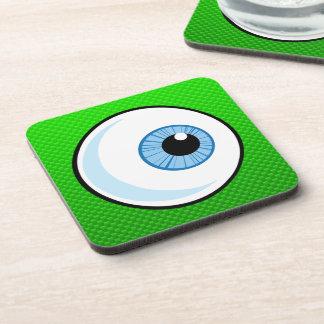 Eyeball; Green Drink Coaster
