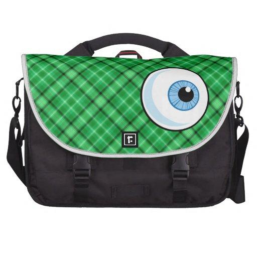 Eyeball; Green Bag For Laptop
