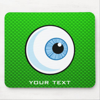 Eyeball; Green Mouse Pad