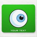 Eyeball; Green Mousepad