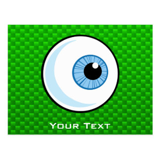 Eyeball; Green Postcard