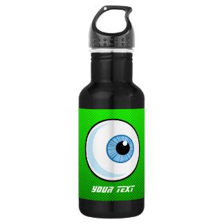 Eyeball; Green Stainless Steel Water Bottle