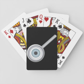 Eyeball In Magnifying Glass Playing Cards