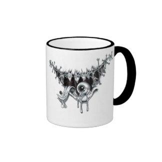 eyeball in mouth ringer mug