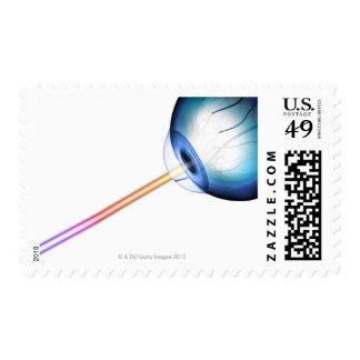 Eyeball Line of Vision Postage Stamp