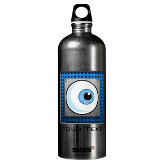 Eyeball; Metal-look Aluminum Water Bottle