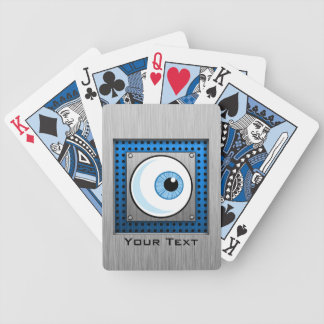 Eyeball; Metal-look Bicycle Playing Cards