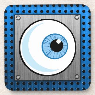 Eyeball; Metal-look Drink Coasters