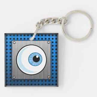 Eyeball; Metal-look Keychain