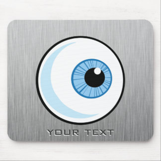 Eyeball; Metal-look Mouse Pad