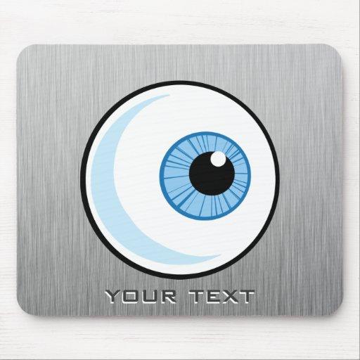 Eyeball; Metal-look Mousepads