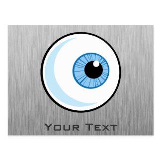 Eyeball Metal-look Postcard