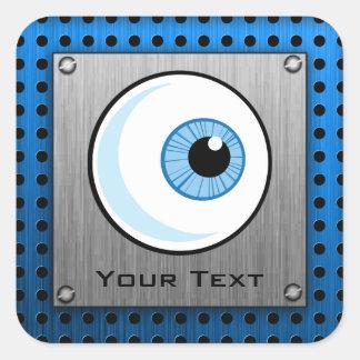 Eyeball; Metal-look Square Sticker