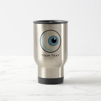 Eyeball; Metal-look Travel Mug