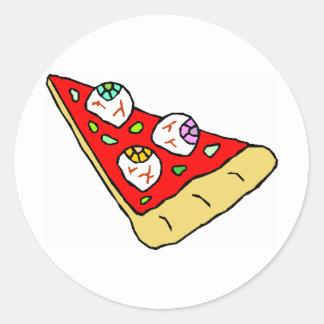 Eyeball Pizza Classic Round Sticker