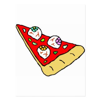 Eyeball Pizza Postcard