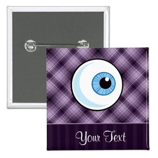 Eyeball; Purple 2 Inch Square Button