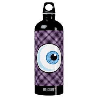 Eyeball; Purple Aluminum Water Bottle