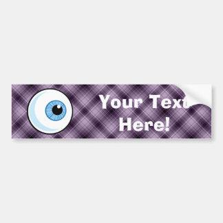 Eyeball; Purple Bumper Sticker