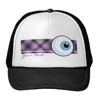 Eyeball; Purple Trucker Hat