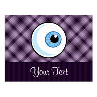 Eyeball; Purple Postcard