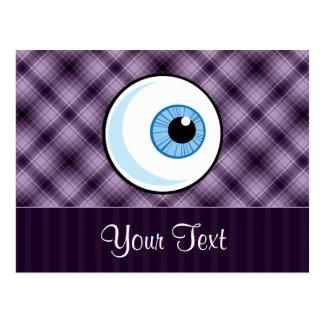 Eyeball Purple Postcards