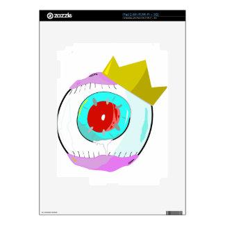 Eyeball red eye king decal for the iPad 2