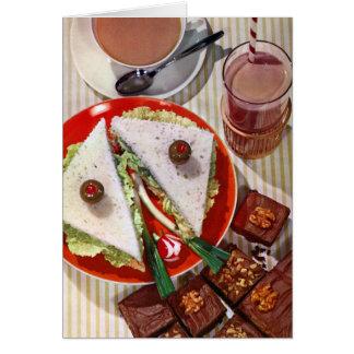 eyeball sandwich sharp greeting card