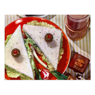 eyeball sandwich sharp postcard
