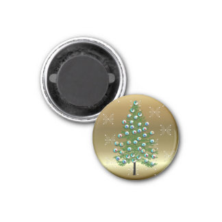 Eyeball Tree 1 Inch Round Magnet