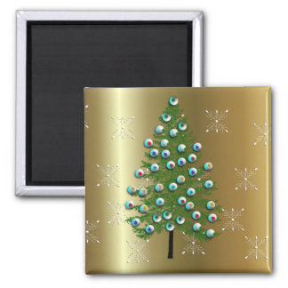 Eyeball Tree 2 Inch Square Magnet