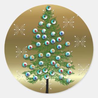 Eyeball Tree Classic Round Sticker
