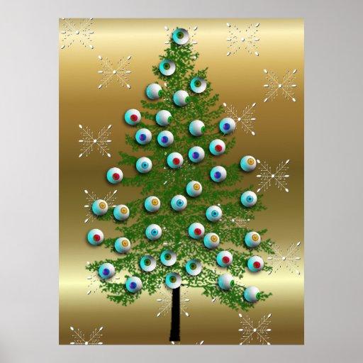 Eyeball Tree Poster