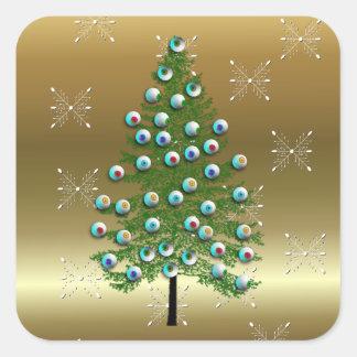 Eyeball Tree Square Sticker