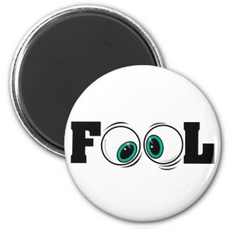 Eyeballs Fool 2 Inch Round Magnet