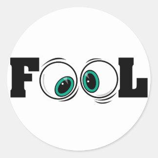 Eyeballs Fool Classic Round Sticker