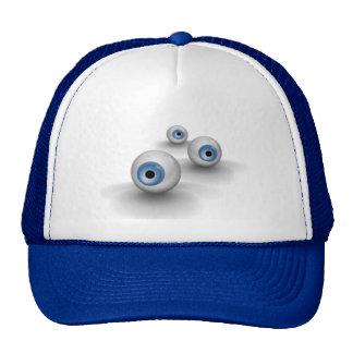 eyeballs mesh hat