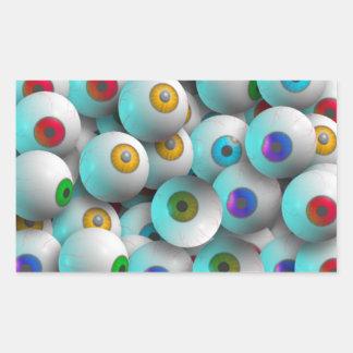Eyeballs Rectangular Sticker
