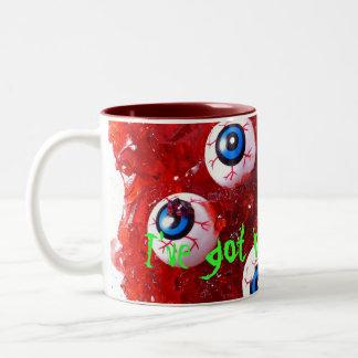 Eyeballs Two-Tone Coffee Mug