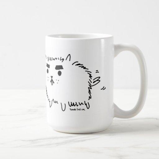 Eyebrow Dog Mug