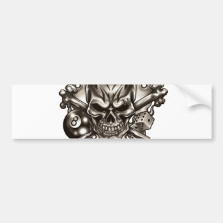 Eyebrow Ring Skull Bumper Sticker