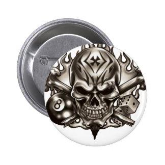 Eyebrow Ring Skull Button