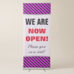 "[ Thumbnail: Eyecatching ""We Are Now Open!"" ]"